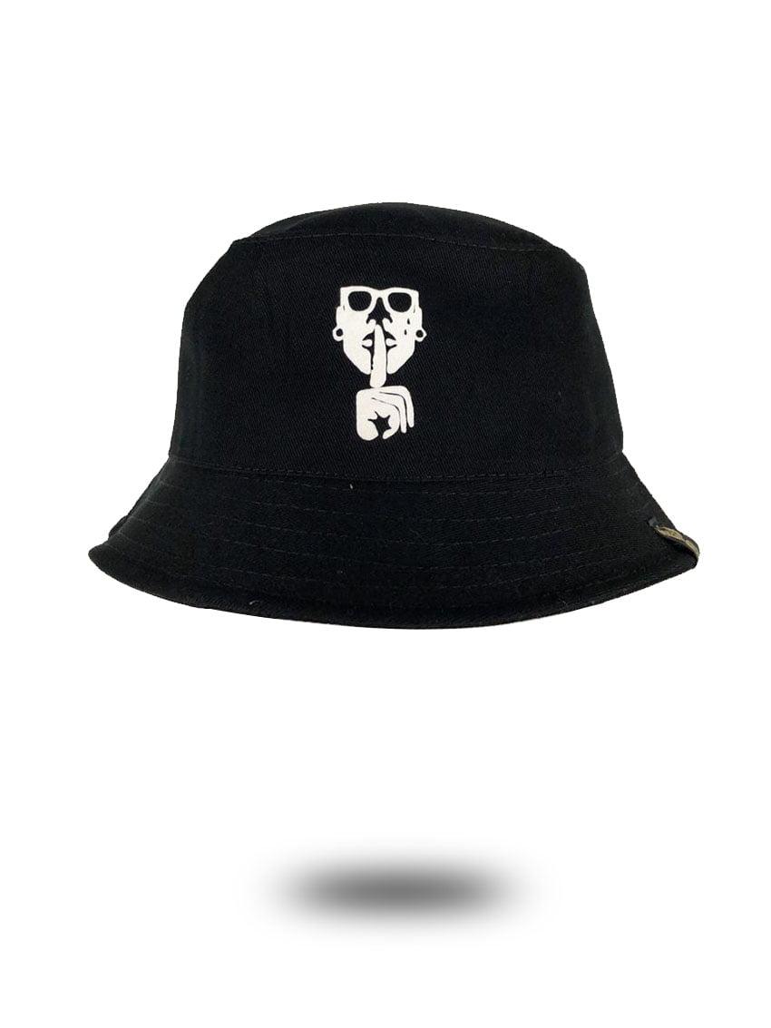 bucket hat preto logo flock