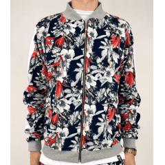 Jaqueta floral estampada bomber - Cópia (1)
