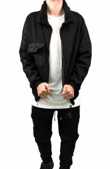 kit all black jaqueta calça jogger