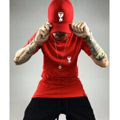 Kit basico camiseta e boné vermelho