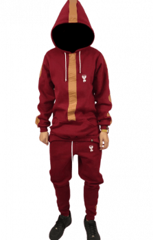 kit moletom alongado +jogger luxod drop 2 bordo