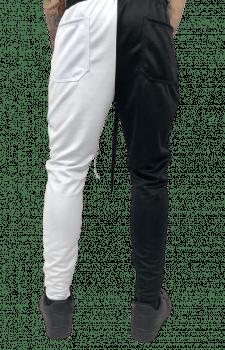 Calça track black white