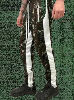Calça track camuflada green