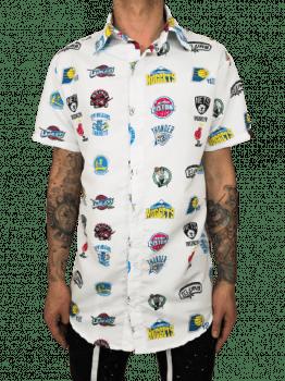 Camisa de botão  longline estampa D3NA