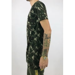 Camiseta longline camuflado