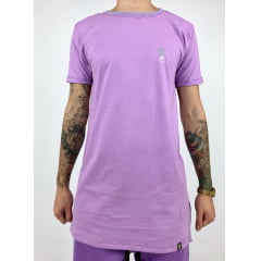 Camiseta longline estampa refletiva