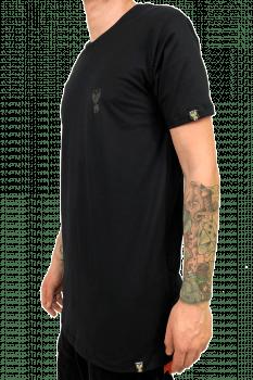 Camiseta basica longline all black