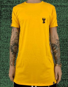 Camiseta longline basica c/ listras