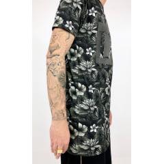Camiseta longline  Floral