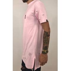 Camiseta longline moletinho