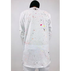Camisa longline manga longa