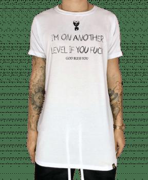 Camiseta longline  strippes