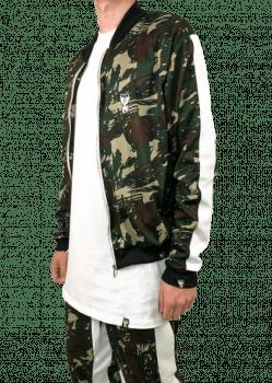 Jaqueta camuflada bomber green
