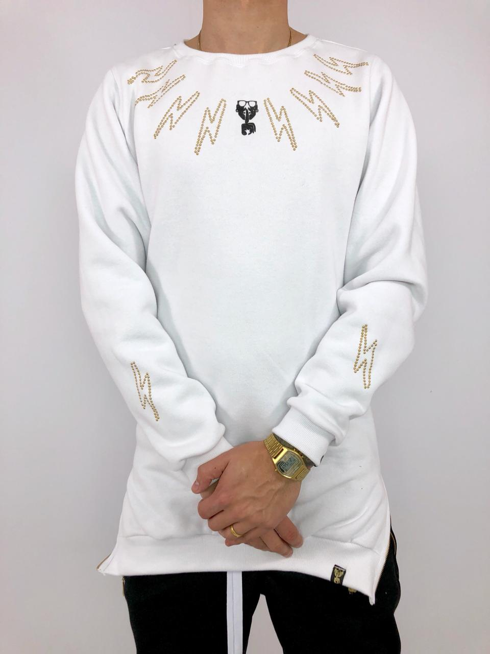 blusa moletom alongado