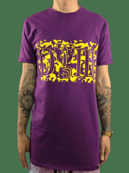 camiseta longline estampa camu