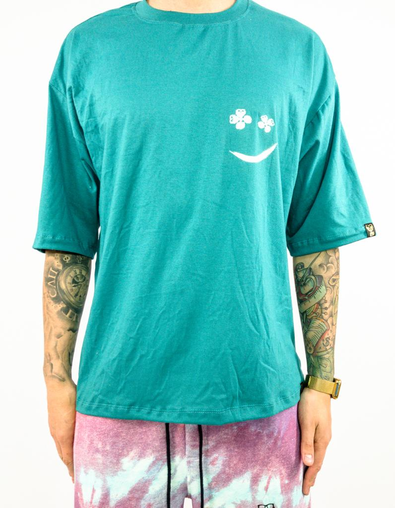 camiseta oversized smile drop tiedye