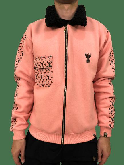 Jaqueta exclusive com faixas gola carneiro