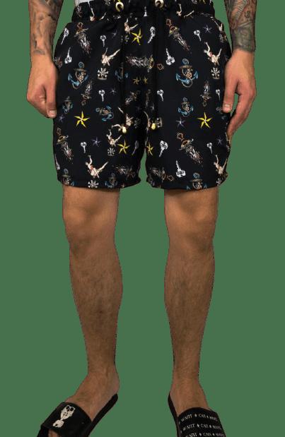 shorts beach old school tattoo
